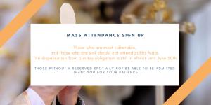 Mass attendance sign up photo